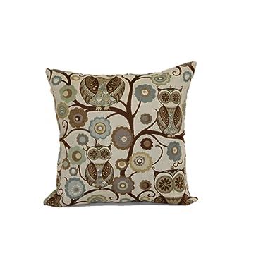 Brentwood Originals 8108 Wise Owl Pillow, 18-Inch, Atlantis