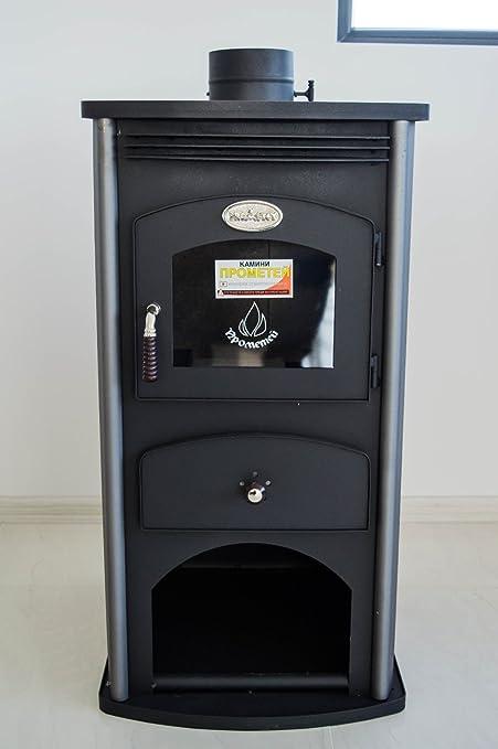 Estufa de leña chimenea de combustible sólido lado decoración 7 kW prometey estilo 2