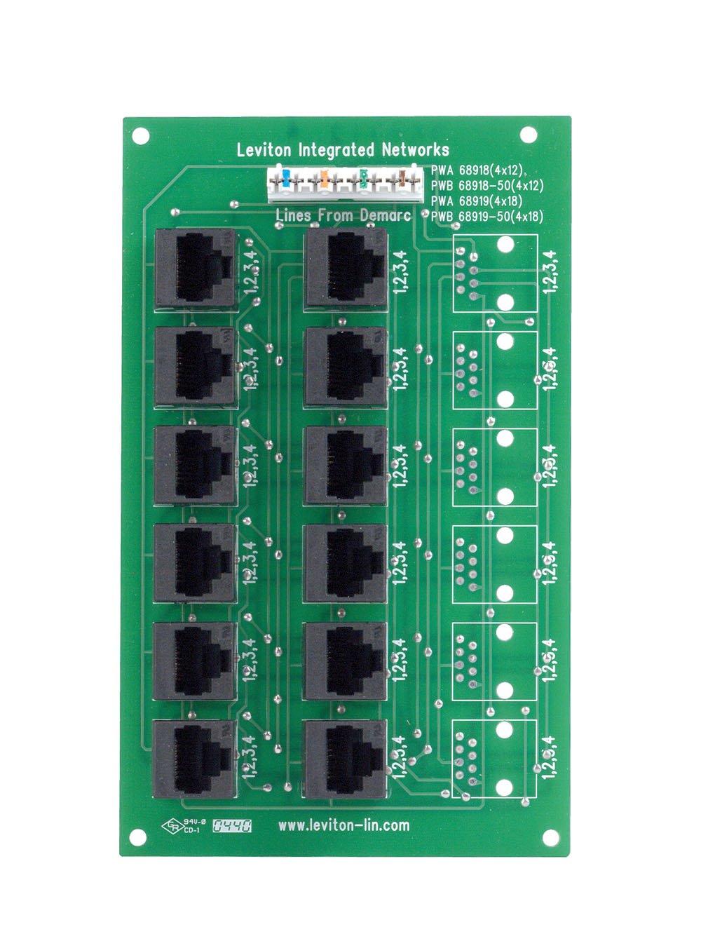 Leviton 47603-12B 4x12 Telephone Distribution Board