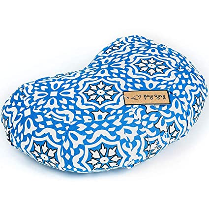Blue Dove Yoga - Cojín de meditación con certificado GOTS de algodón orgánico