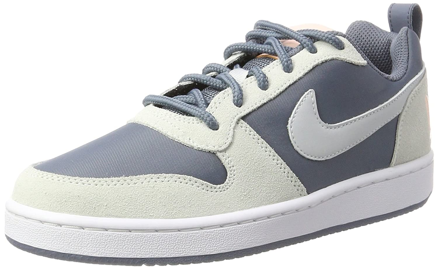 Nike W Court Borough Low Prem, Zapatillas de Gimnasia para Mujer 39 EU|Multicolor (Armory Blue/Pure Platinum/White/Sunset Tint)