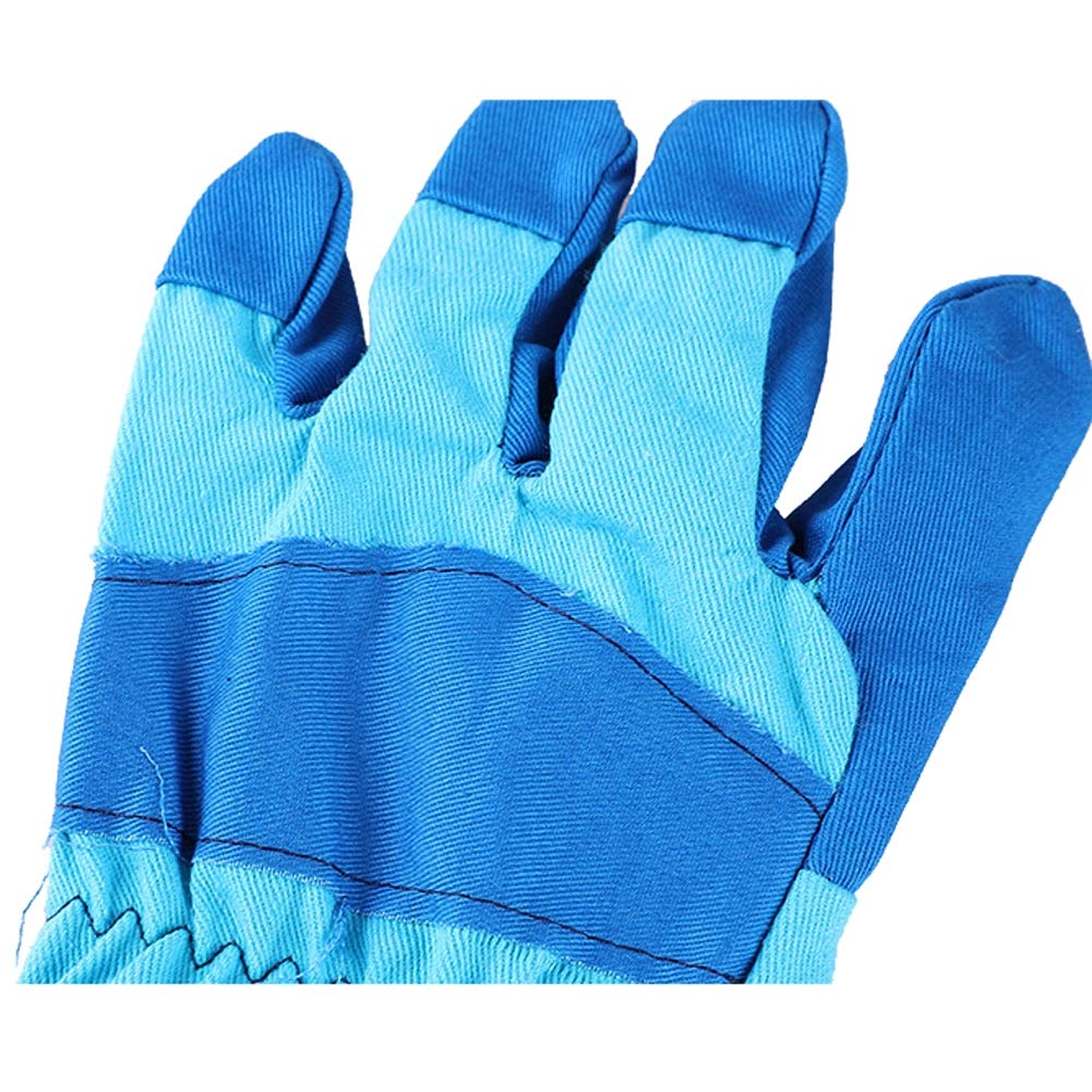 Xgxyklo Children Gardening Planting Gloves, Anti-Cutting Wear-Resistant Breathable Thickening Protective Gloves,Blue,10Pair by Xgxyklo (Image #7)