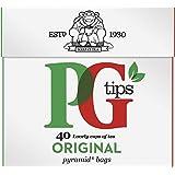 PG TIPS ピージーチップス ピラミッド型ティーバッグ ×40袋 [正規輸入品]