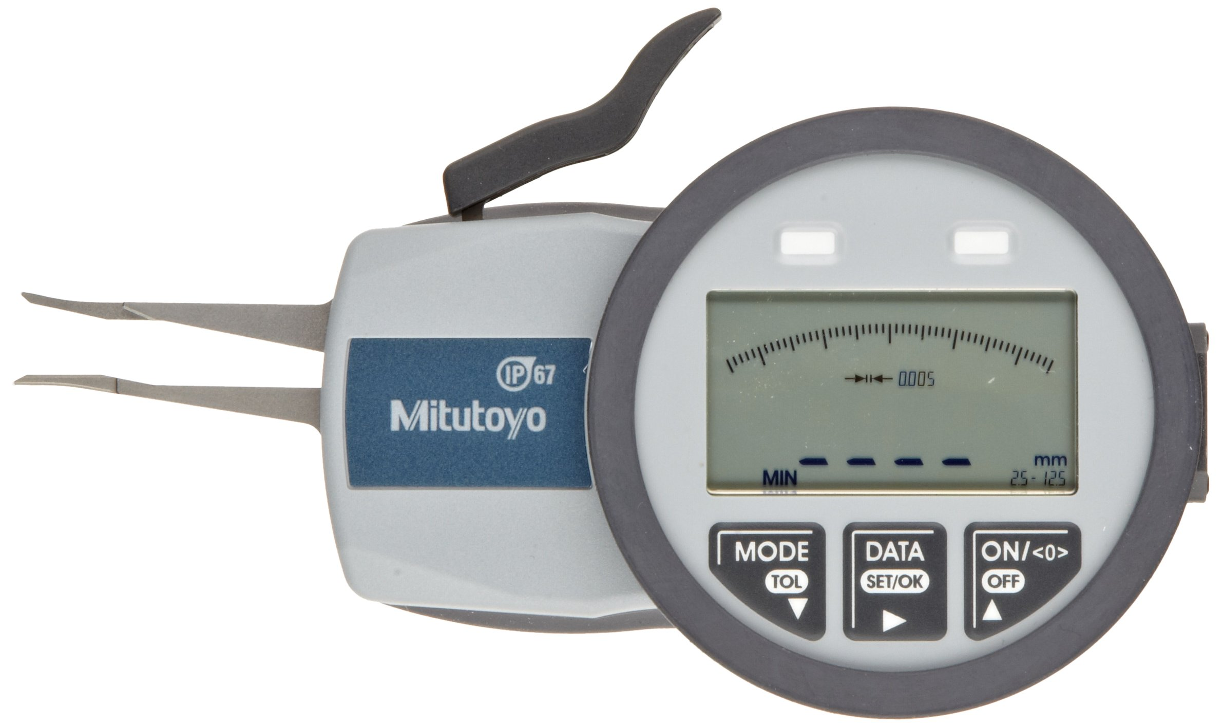 Mitutoyo 209-550 Caliper Gauge, Inch/Metric, Pointed Jaw, 0.1-0.49'' Range, +/-0.0008'' Accuracy, 0.0002'' Resolution, Meets IP63/IP67 Specifications