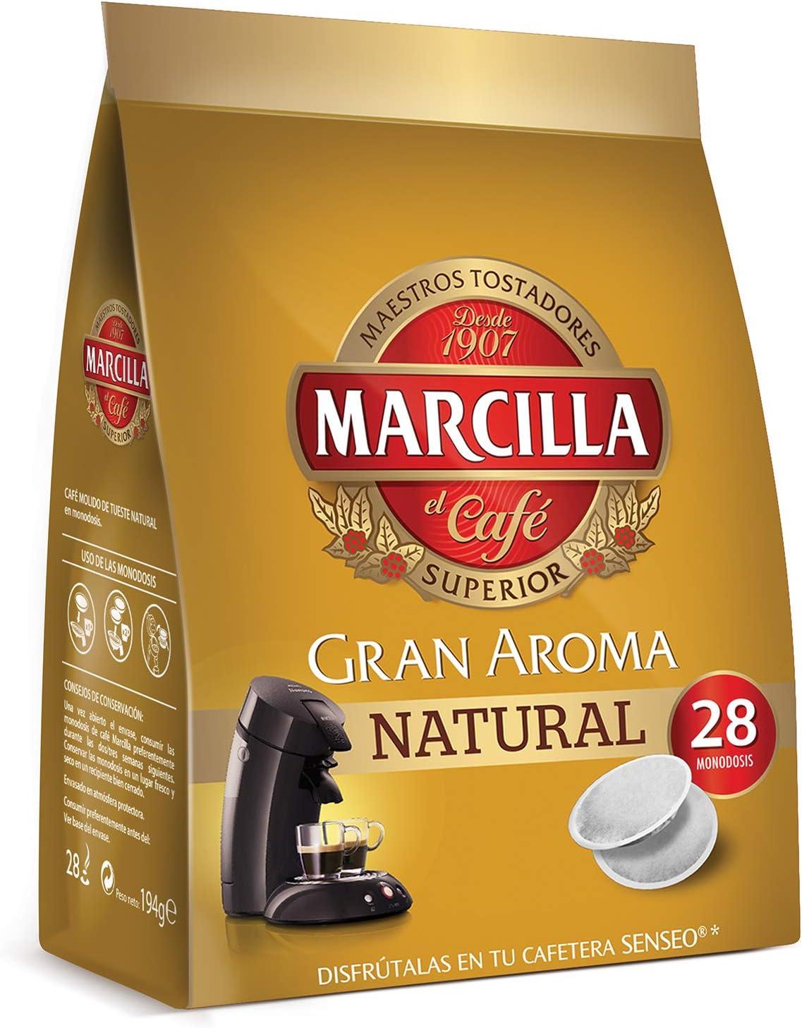 Marcilla Café Natural para máquina Senseo - 5 paquetes de 28 ...