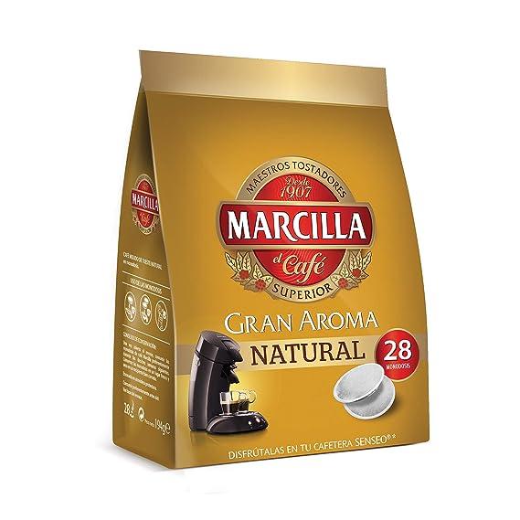 Café Marcilla Natural PADS para máquina Senseo - [Pack de 5]