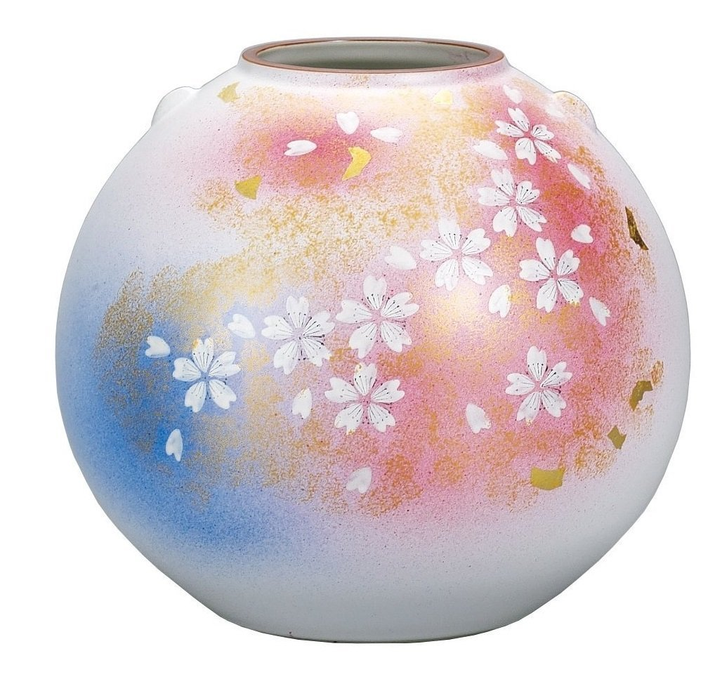 KUTANI YAKI(ware) Vase Flower Dance