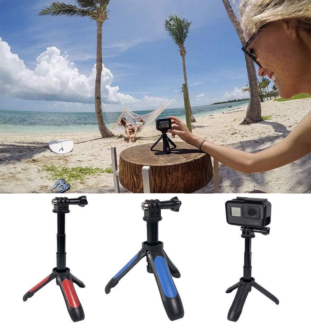 MINQISU Tabletop Tripod with 3-Way Flexible Mini Travel Tripod Camera Tripod Compatible with Most Sports Cameras