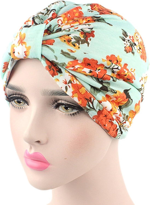Turban Hut Kappe Kopfband Ever Fairy Damen Blumenmuster Bedruckte Baumwolle Turban Chemo Schlaf Kappe