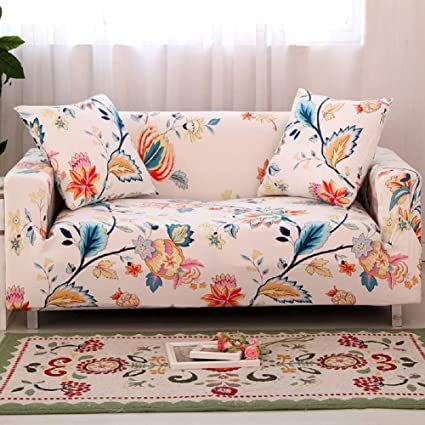 Swell Hotniu Stretch Sofa Cover Spandex Couch Slipcover Fitted Loveseat Couch Covers Floral Printed Slipcovers For Sofa And Couch 4 Seater Sofa 88 114 Ncnpc Chair Design For Home Ncnpcorg