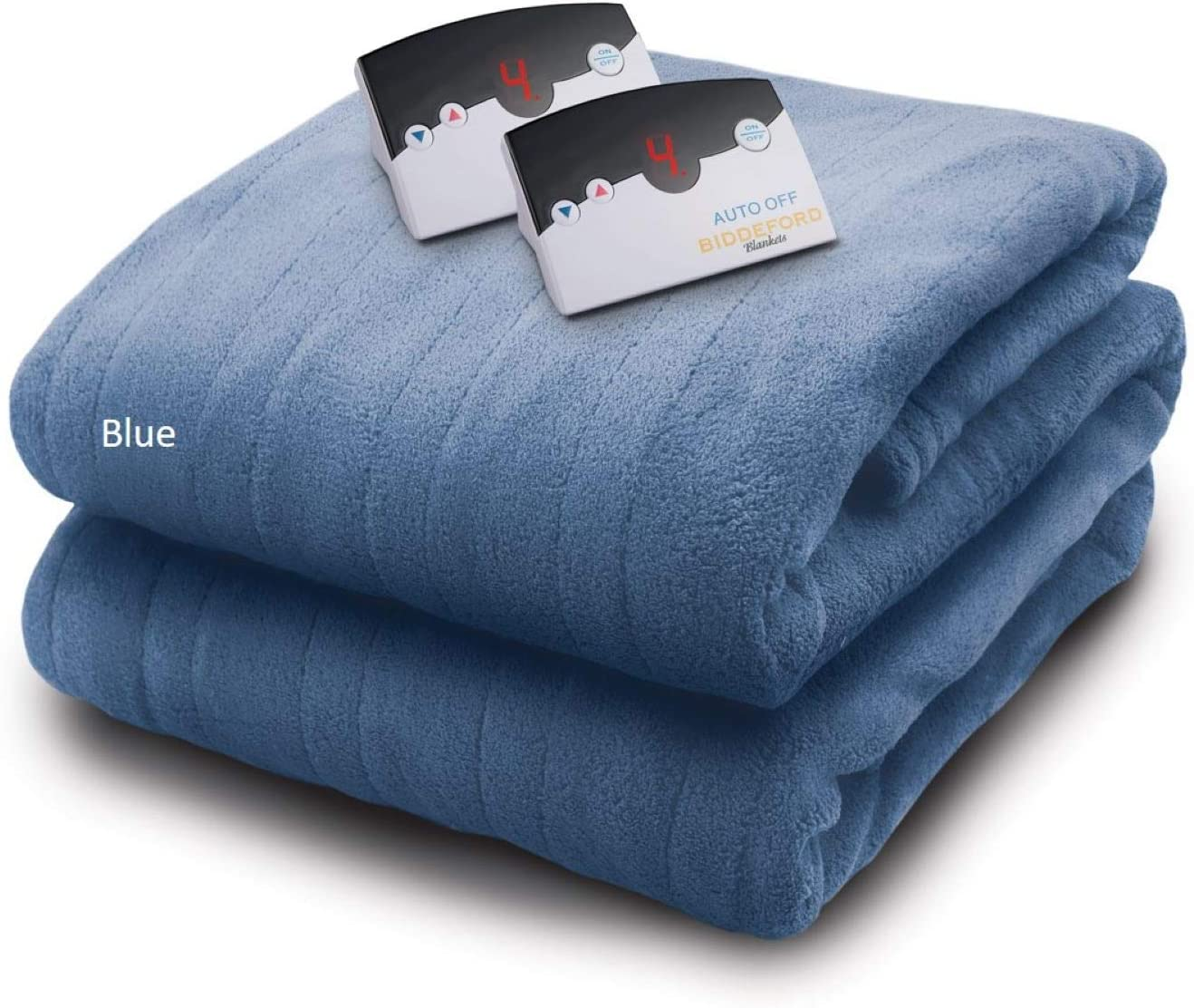 Biddeford Blankets Micro Plush Electric Heated Throw with Digital Controller