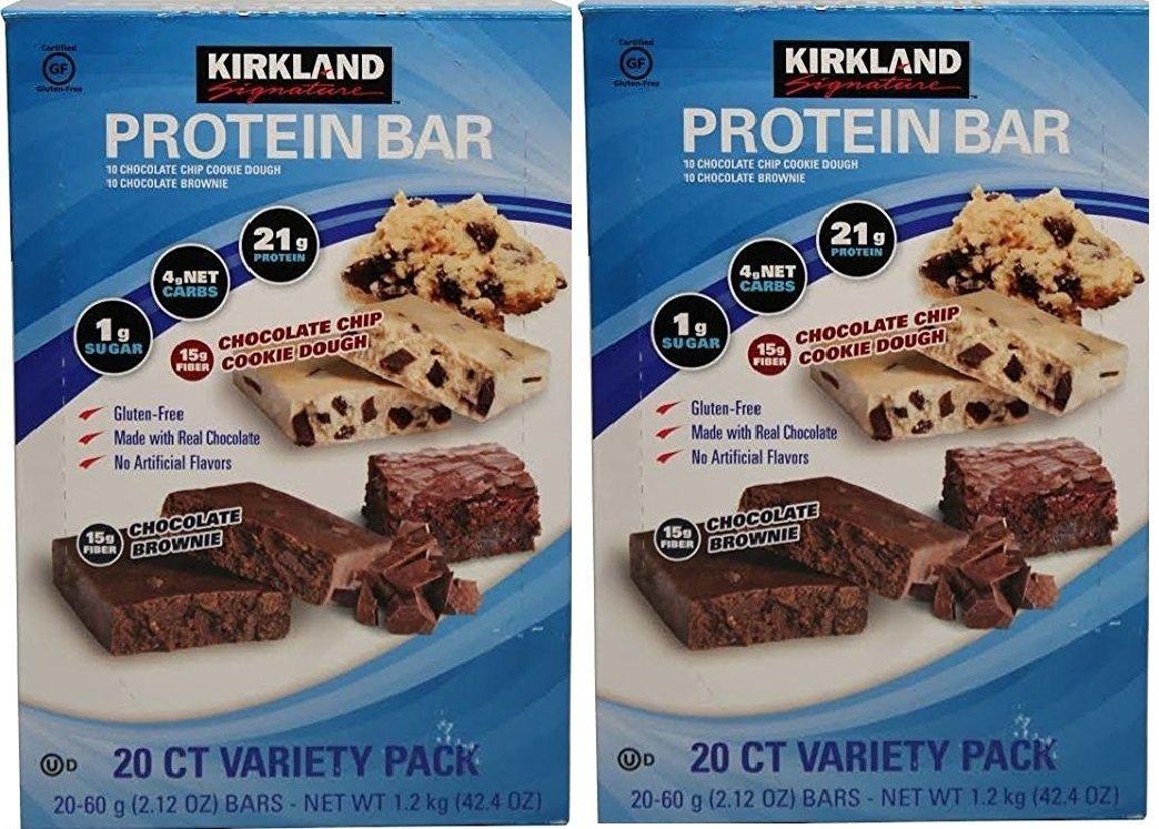 Kirkland Signature Protein bar energy variety pack AhFFdU, 2Pack (20 Count)