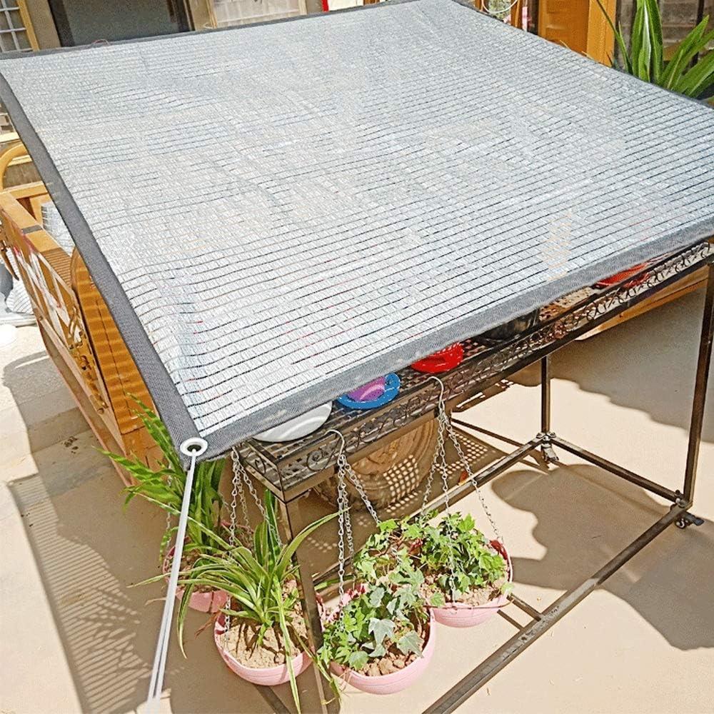 WWWANG Aluminio sombrilla Neto al Aire Libre de la Hoja de protección Solar Neto, Neto de Aislamiento de Calor, Balcón Ventana de Seguridad Exterior del Invernadero Cría sombreado Neto: Amazon.es: Deportes y