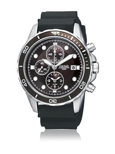 Pulsar PF3997X1 - Reloj de Caballero Movimiento de Cuarzo con Correa de Caucho: Amazon.es: Relojes