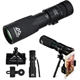 Mosodo Crystal Clear 8-24X40 Dual Focus Optics Monocular Telescope │Green FMC Lens with Bak-4 Prism Provides Excellent Views at Day & Night in Most Outdoor Activities and Concerts │ Features of Compact Design, Waterproof, and Scratch Resistant