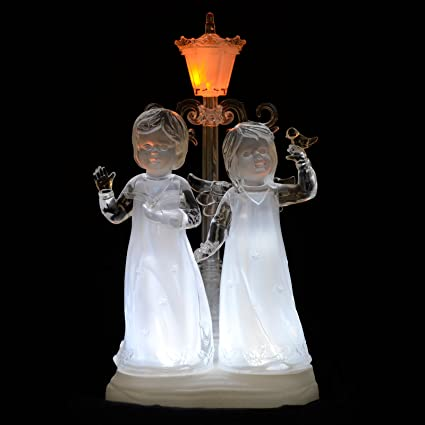 Christmas Carol Singers Ornaments.Light Up Led Acrylic Carol Choir Singer Angel Ornament Xmas Christmas Decoration