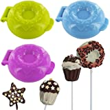 Promobo -Set Lot 3 Moules Pop Cakes Fantaisie Forme Donuts Lily Cook