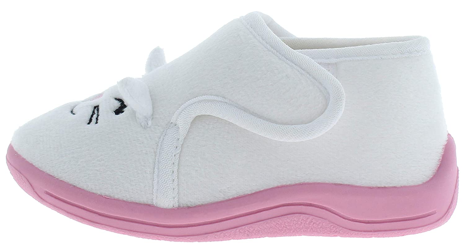 Capelli New York Toddler Girls Cute Pup Indoor Slippers with Bow Detail STG-1086