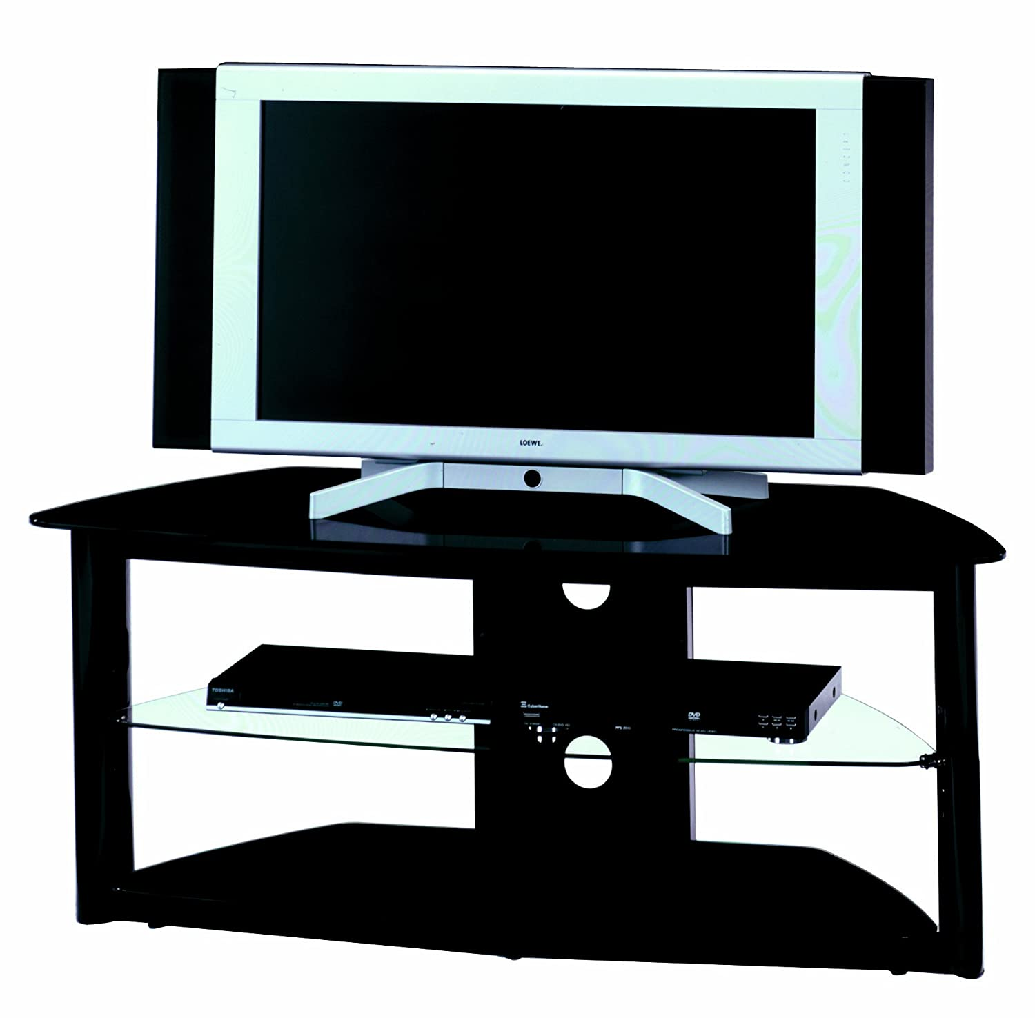 jahnke tv rack Jahnke Cuuba MR 89 39 M05 TV Rack Black-Black High Gloss 120 x 50 x 45 cm:  Amazon.co.uk: Kitchen u0026 Home