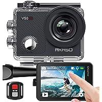 AKASO Action Cam/onderwatercamera 4 K WiFi 40 m IIS anti-shake Action Camera 4X Zoom met touchscreen, afstandsbediening…