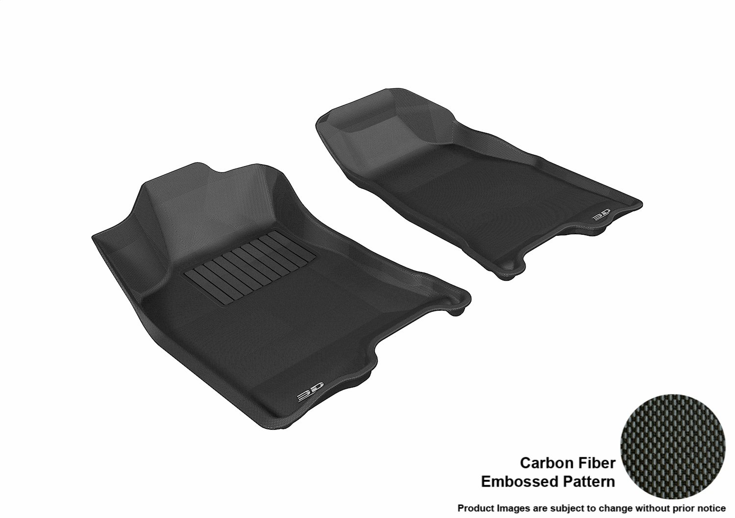 3D MAXpider Second Row Custom Fit All-Weather Floor Mat for Select Chevrolet Colorado Models Kagu Rubber Tan