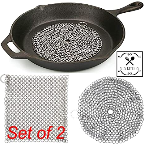 Amazon.com: MCN Kitchen: Cast Iron Cleaner Stainless Steel ...
