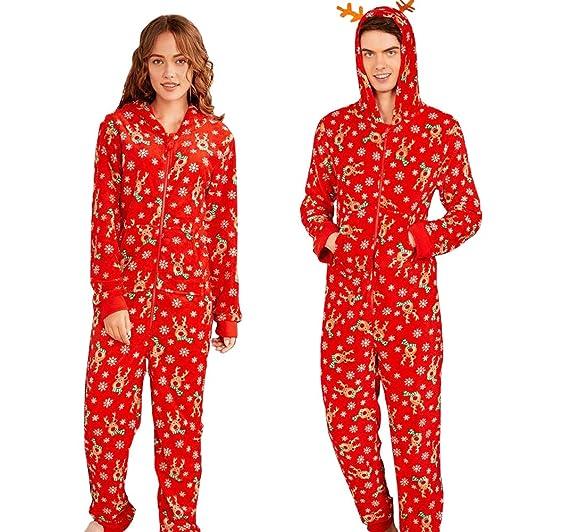 976f7b6a58f5 Amazon.com  KM Family Couple One Piece Pajamas Sleepwear Set