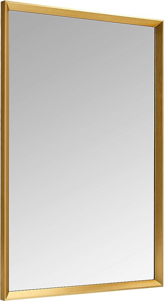 nero Basics Specchio da parete rettangolare da 60,9 x 91,4 cm finitura standard