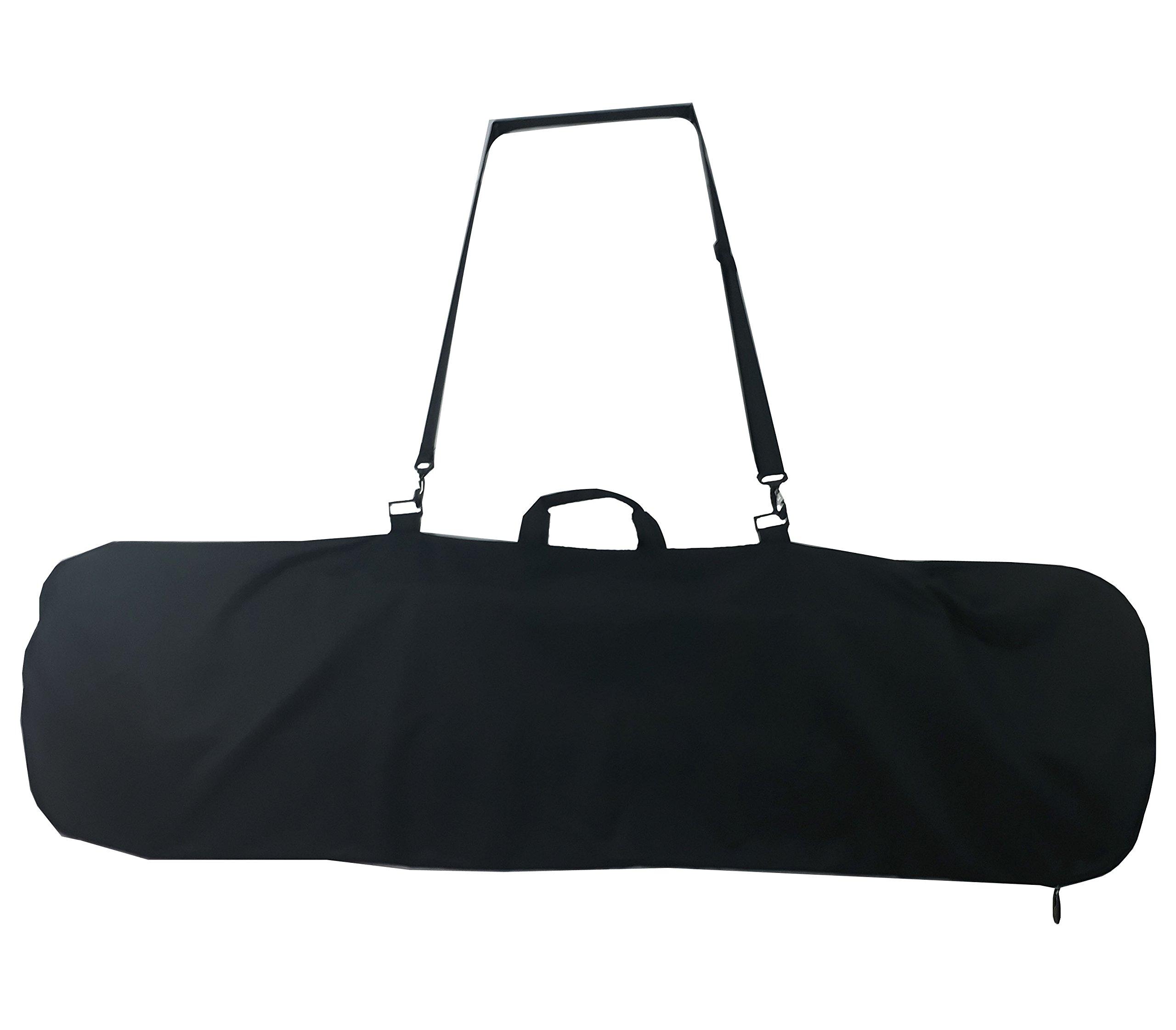 Axiboard Snowboard Bag, Board Sleeve Black 55 inch bag for Smaller Boards Youth. Kids Snowboard Bag. by Axiboard