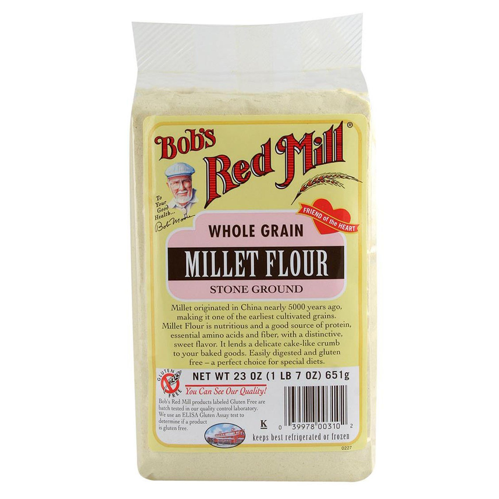 Bob's Red Mill, Whole Grain, Millet Flour, Stone Ground, 23 oz(Pack of 2)