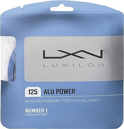 Ice Blue Luxilon Big Banger Alu Power 125 Tennis String 220m Reel