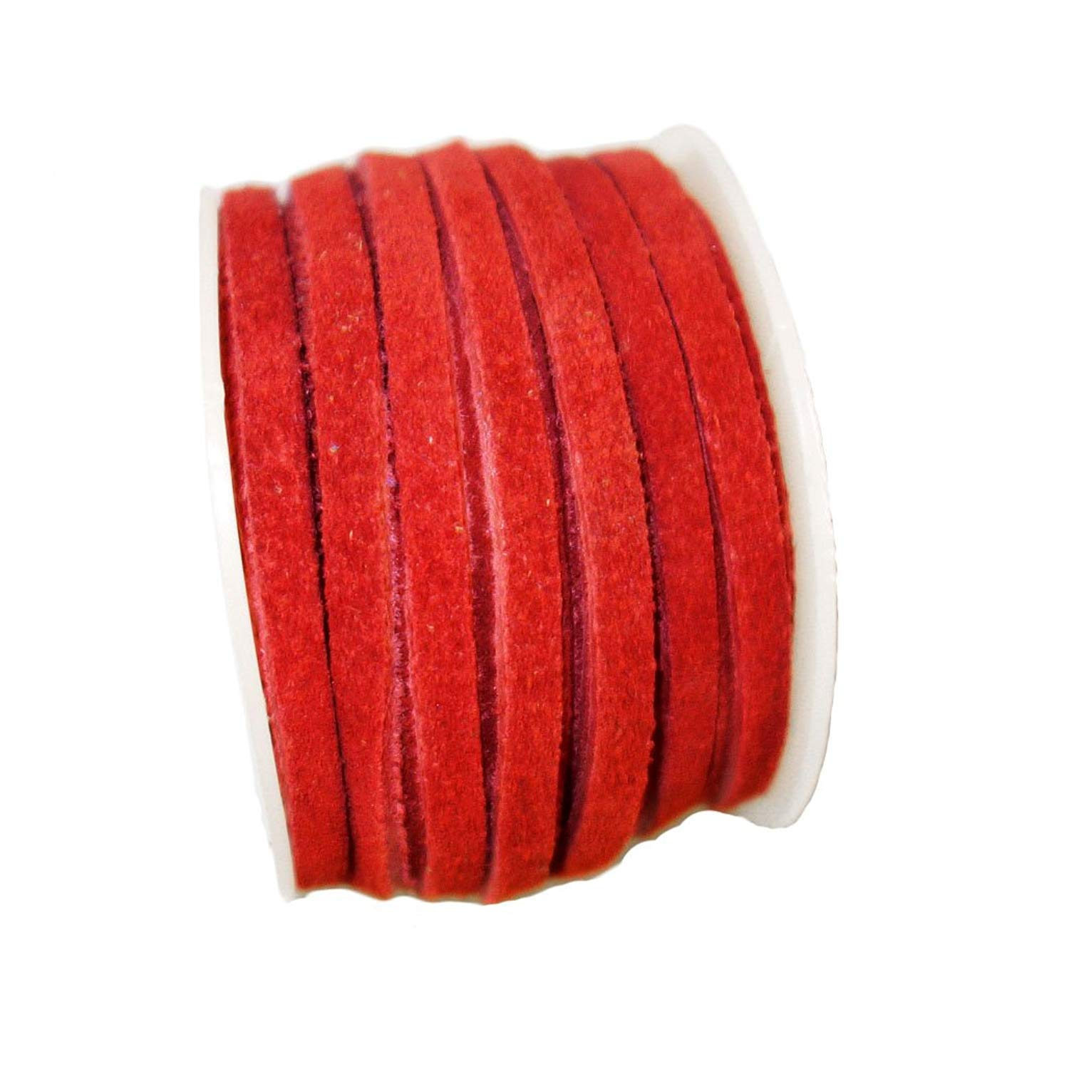 Genuine Suede Flat Leather Lace Leather Cording for Jewelry /& Crafts 4mm Red 10 Meters 10.93 Yards