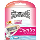 Wilkinson Sword Quattro Razor Blades Refills for Women - Pack of 6