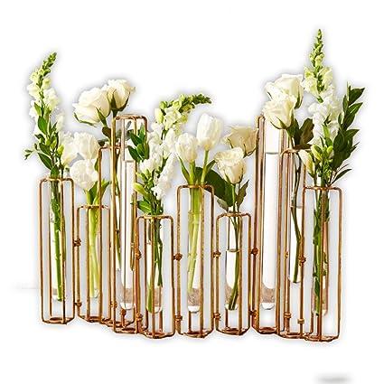 Amazon Tozai Home Hinged Flower Vases Antiqued Gold Finish