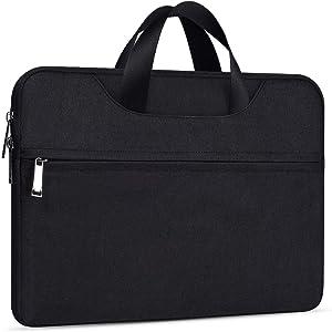 11.6 Inch Laptop Bag Case Travel Office Business Briefcase for Men Women, Chromebook Case for Lenovo Chromebook C340 C330/Dell XPS 13 7390 9380, Asus Vivobook 11.6, Samsung Chromebook 3(Black)