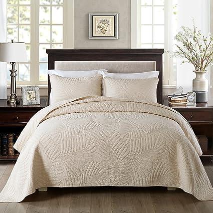 Amazon Com Newlake Bedspread Quilt Sets Cotton Patchwork Coverlet