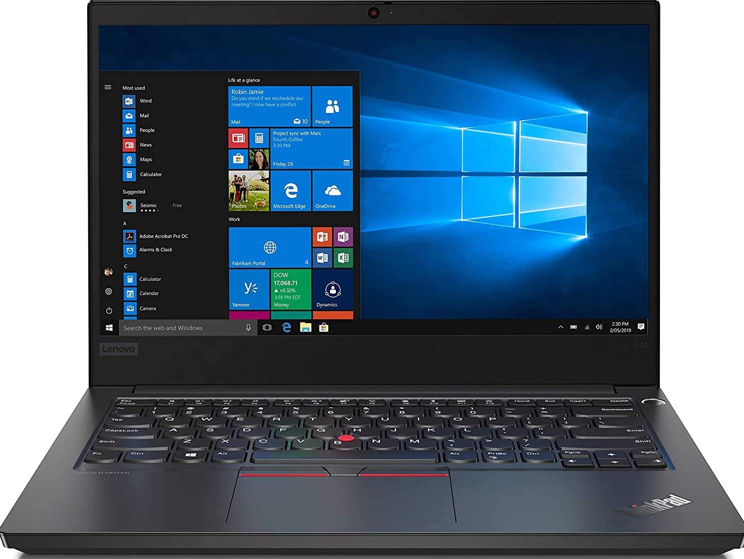 Lenovo ThinkPad E14 Intel Core i5 10th Gen 14-inch Full HD IPS Thin and Light Laptop (8GB RAM/ 1TB HDD + 128GB SSD/ Windows 10 Home/ Microsoft Office Home & Student 2019/ Black/ 1.69kg), 20RAS0W500