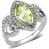 3210 SEMI PRECIOUS MONTANA SAPPHIRE SIMULATED DIAMOND RING STAINLESS STEEL