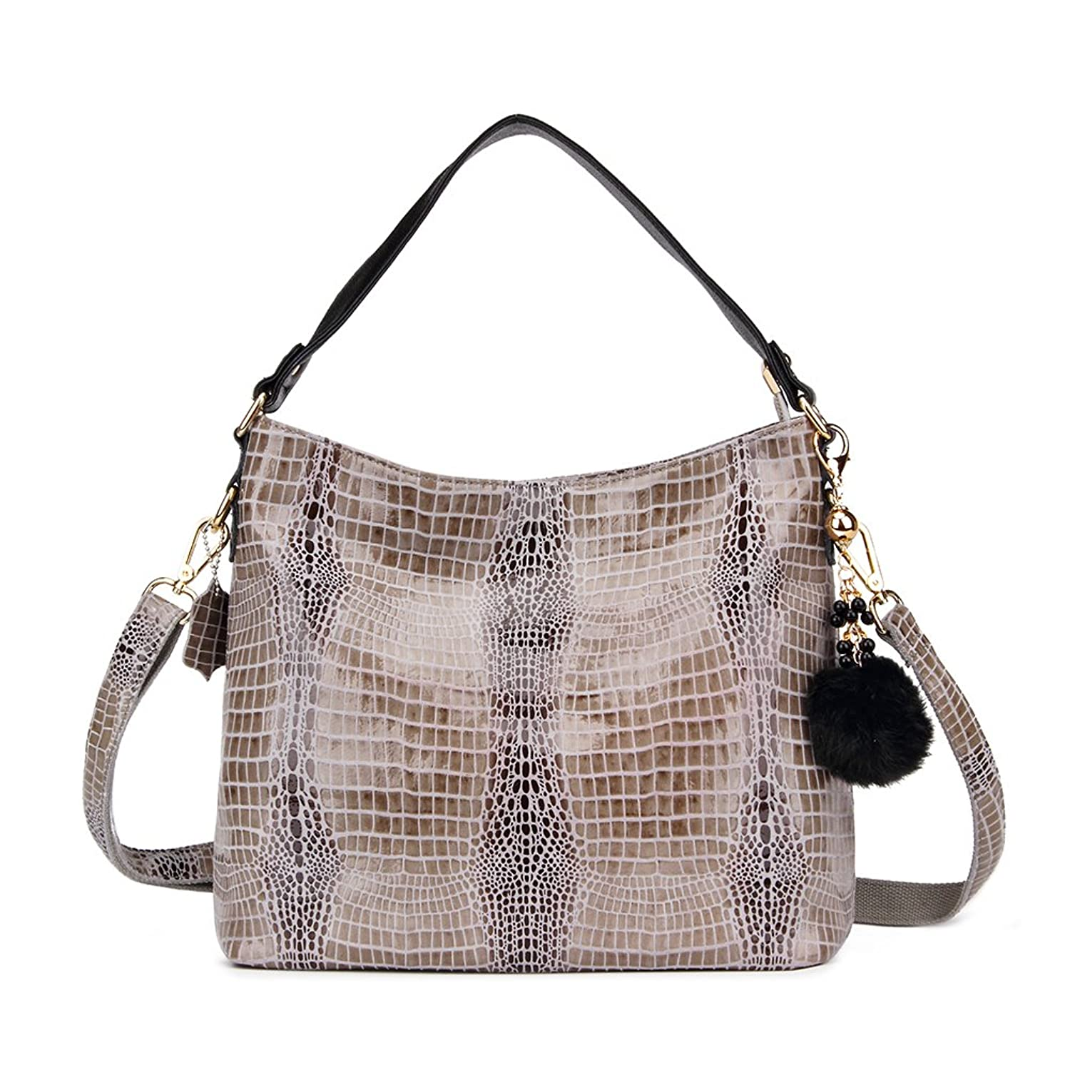 Realer Soft Leather Ladies Handbags Tote Bags with Zipper for Women Cross Over Shoulder Bags