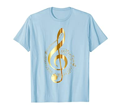 Amazon Music Note T Shirt Gold Clef Musical Symbol For