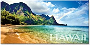 Panoramic Hawaiian Art Collectible Refrigerator Magnet - Rainbow Bali Hai by Monica & Michael Sweet