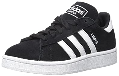 adidas Originals Campus J Sneaker (Big Kid), BlackWhiteBlack,