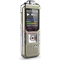 Philips DVT6500 Digitales Diktiergerät (mit 3 Mic-Hi-Fi-Aufnahme, MP3, PCM, 4 GB interner Speicher, Bewegungssensor, Fernbedienung, Kopfhörer und Li-Polymer-Akku, Micro-USB-Anschluss) gold