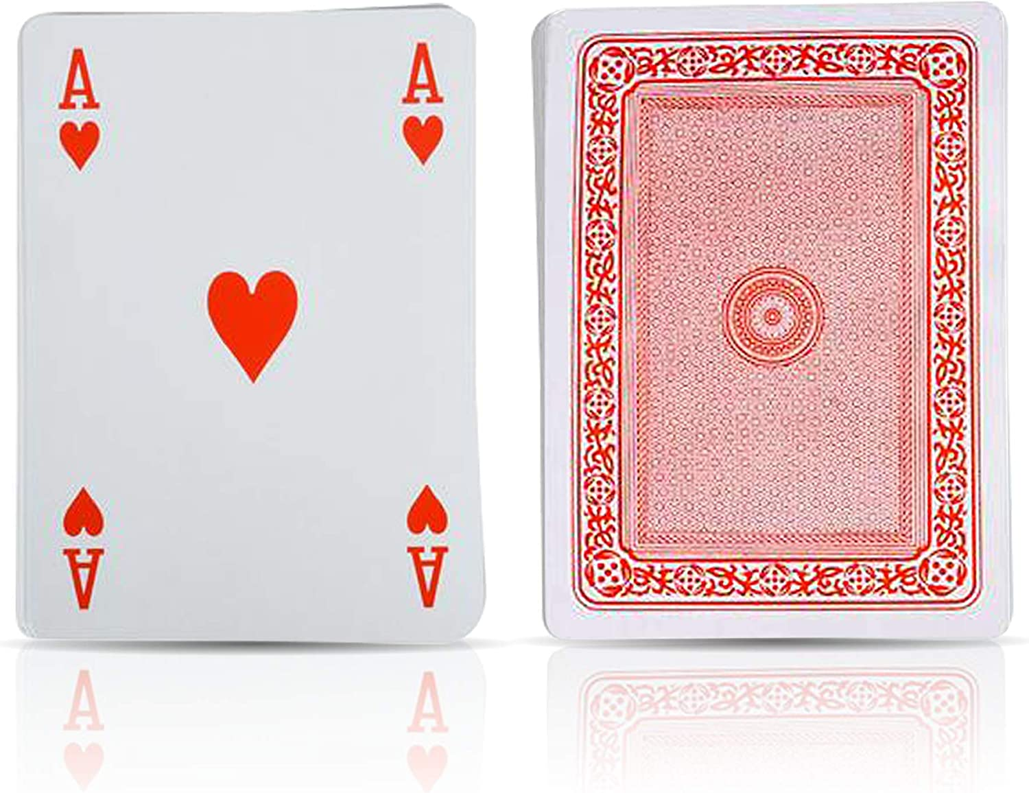 Giant 5 X 7 Inch Playing Cards by Gamie - Pack of 2 - Oversized Super Big Poker Card Set - Huge Casino Game Cards for Kids, Men, Women and Seniors - Great Novelty Gift Idea