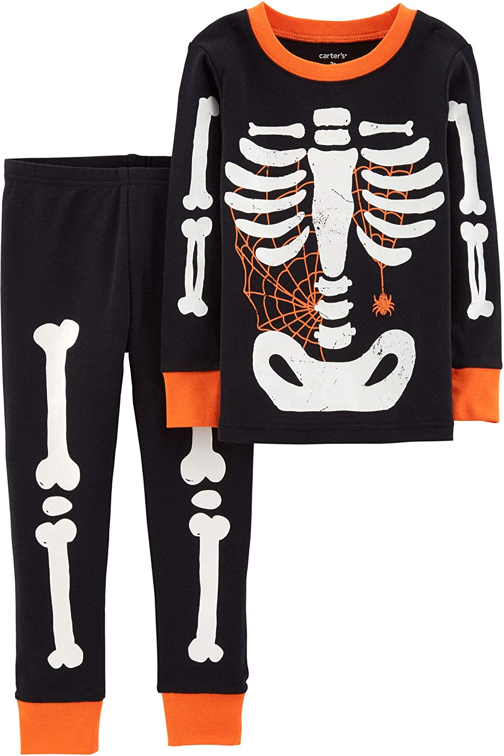 3498cce052cd Amazon.com  Carter s Boys  Glow-in-the-dark Halloween Pajamas  Clothing