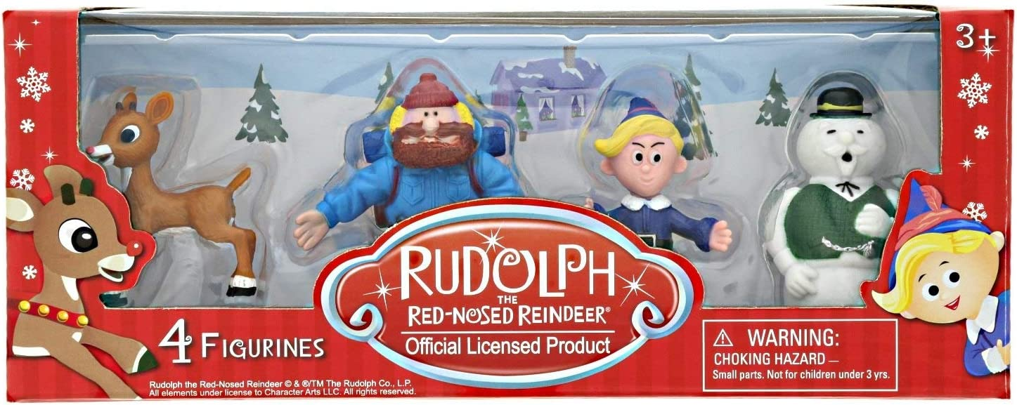 4 Figurines Collectible Figurine Set 1 RUD32110 Cactus Games CGDRUD32110 Rudolph the Red-Nosed Reindeer