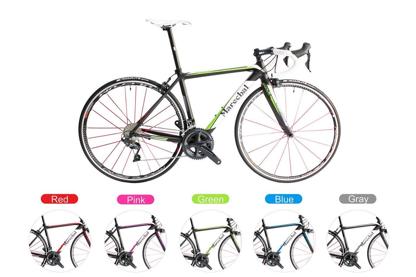 Marechal (マルシャル) Soul Road Bike Bicycle w/R8000 50/34T 170mm & Fulcrum (フルクラム) Racing Zero Red Rim ロードバイク Shimano(シマノ) R8000グループ サイズ 45/47/50/52cmから選択可 [並行輸入品] B07C6LDHBQ 50cm|Blue Blue 50cm