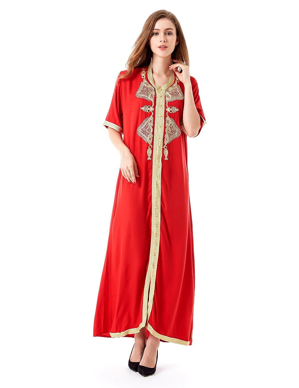 763b07e3f1e3 Top4: Muslim Dress Dubai Abaya Caftan for Women Islamic Clothing Rayon Gown  Jalabiyas for Girls Tunic