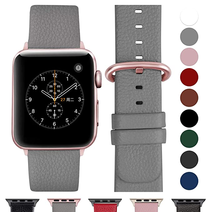 97 opinioni per Fullmosa Cinturino Apple Watch 42 mm 38 mm, iWatch Cinturino Pelle per Apple