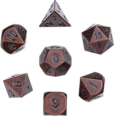 LBSX Dice-Velvet Set, Poliedro Pinzas Set, números multifacéticos, for DND, Juegos de rol, Juegos de rol, Matemáticas Enseñanza, 7 Conjuntos de Dados: Amazon.es: Hogar